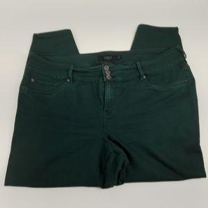 Torrid Denim Jeans Size 24 Green Ankle Skinny